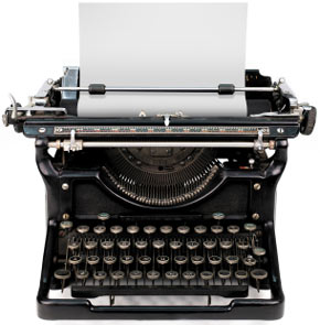 Photo of antique typewriter